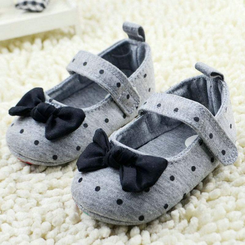 Chaussures en coton avec nœud