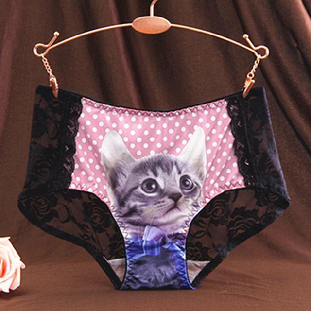 Culotte sexy à motif chat