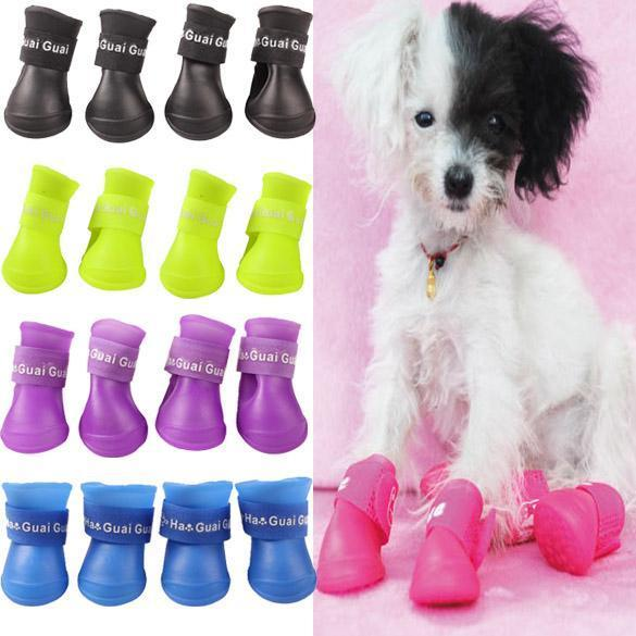 Chaussures imperméables pour chien ( 4 pièces )