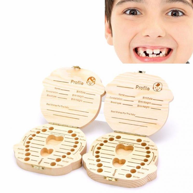 Boîte à dents de lait en bois