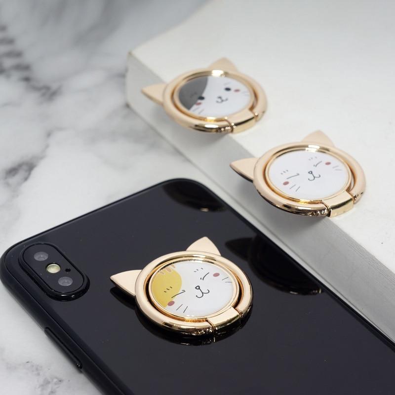 Cute anneau support chat pour Smartphones