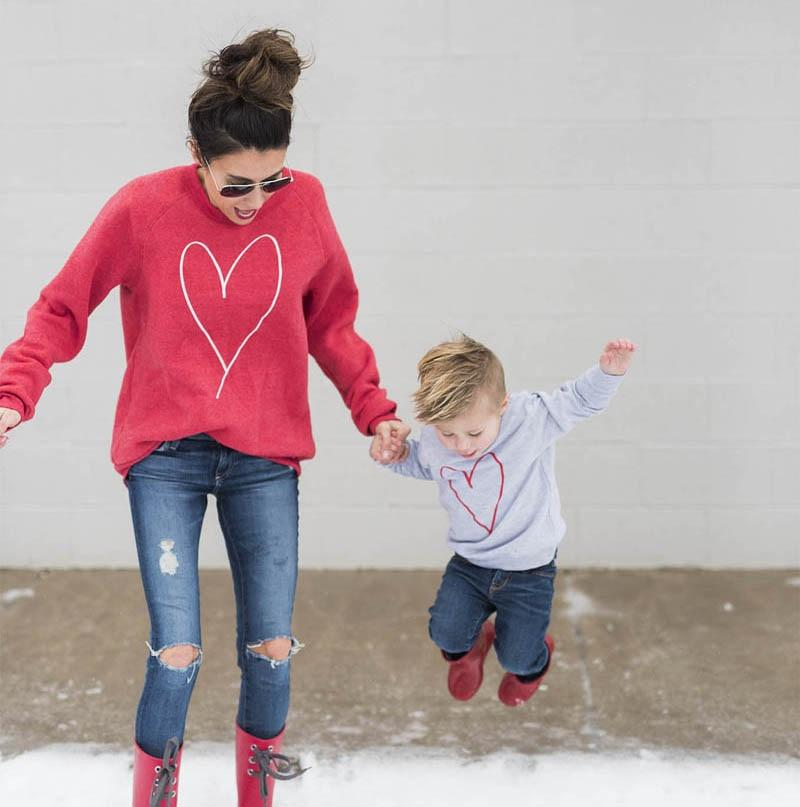 Joli Pull Mère & Enfant